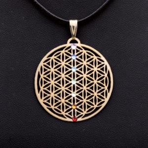 Amulett Chakra vergoldet 3cm