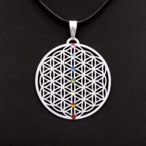Amulett Chakra versilbert 2,5cm