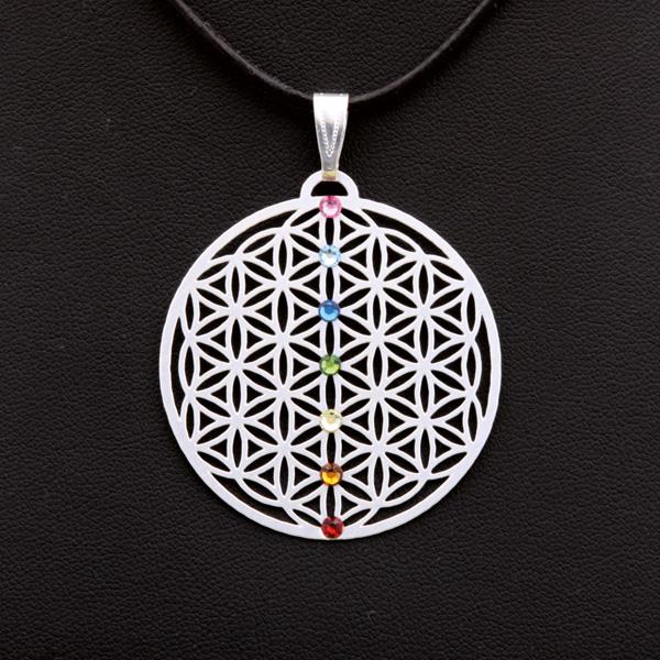 Amulett Chakra versilbert 4cm