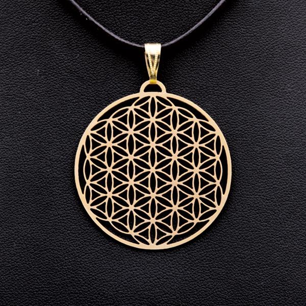 Amulett vergoldet 4cm
