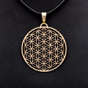 Amulett vergoldet 2,5cm