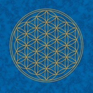 Blume des Lebens Poster blau