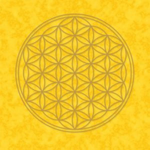 Blume des Lebens Poster gelb